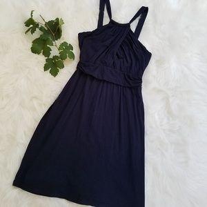 Velvet by Graham & Spencer Navy Halter Style Dress